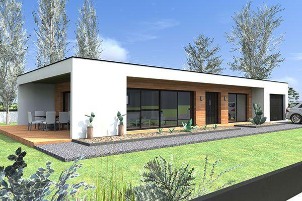 Constructeur maison contemporaine plain pied mod le for Constructeur maison moderne gard