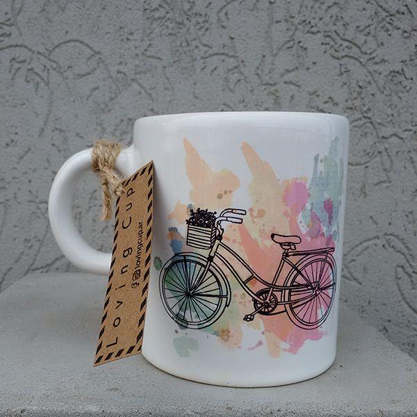"Taza de cerámica ""Bicycle"""