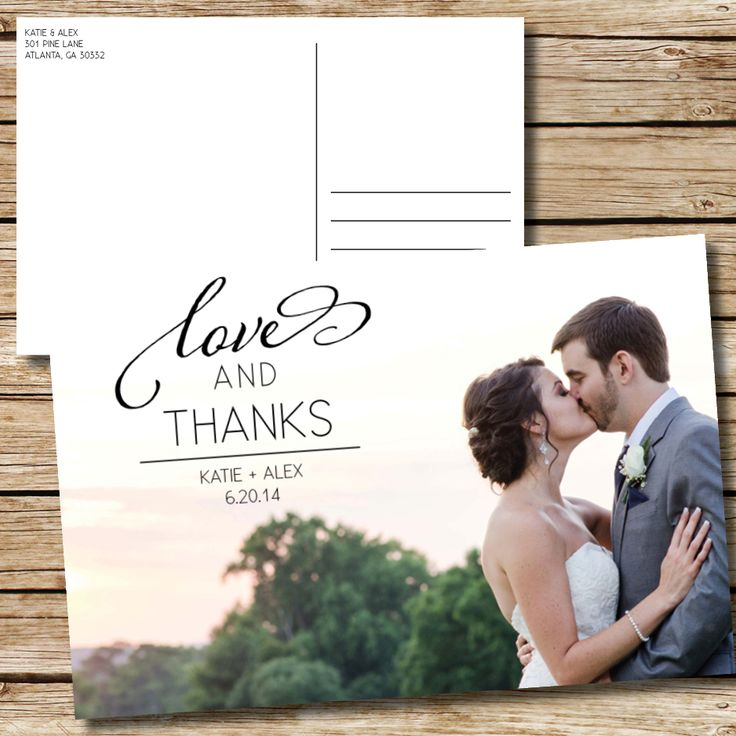 wedding thank you cards time limit%0A Wedding Thank You Postcards by oh my  designs on Etsy