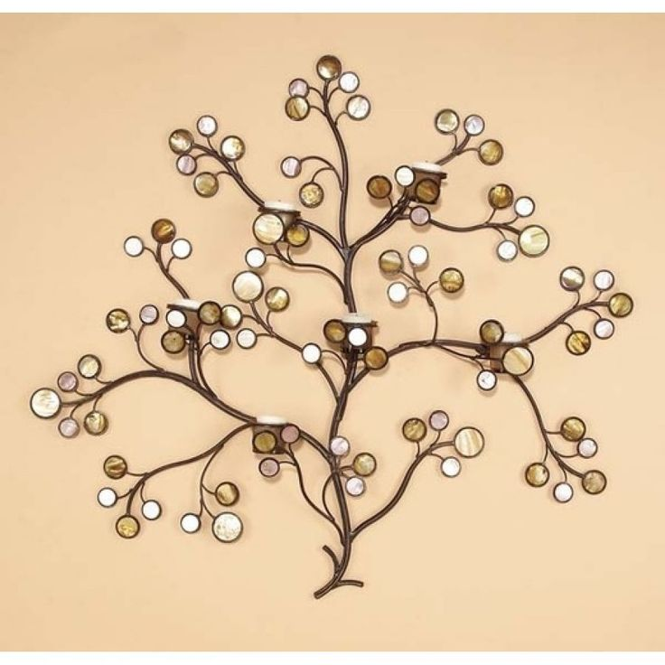 Contemporary Metal Wall Art With Candles Ornament - Wall Art Design ...