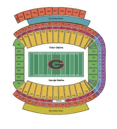 2016-UGA-Georgia-Bulldogs-Football-Season-Tickets-LOWER-LEVEL-50-YARD-LINE