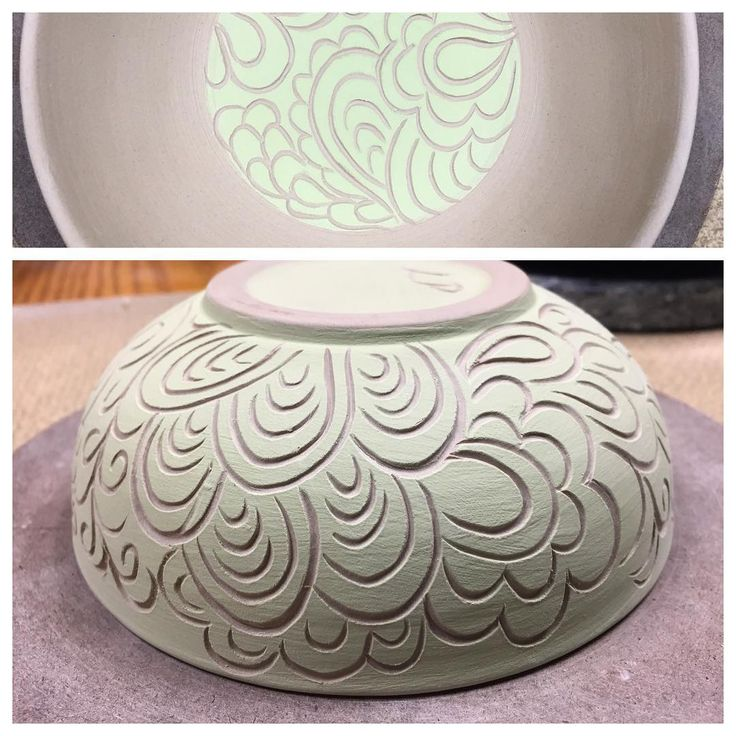 More sgraffito carving tonight through underglaze. Feels good to have some clay time. #sgraffito #pottery #carvedpottery #carvingpottery #ceramics