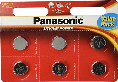 Panasonic CR2032 Battery Lithium cr2032 3V Coin Cell pack of 6 batteriespanasonic brand name batteries exp date 2022 >>> Want to know more, click on the image.