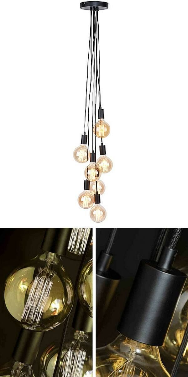 20 best suspension ampoule images on pinterest lightbulb light fixtures and home ideas. Black Bedroom Furniture Sets. Home Design Ideas
