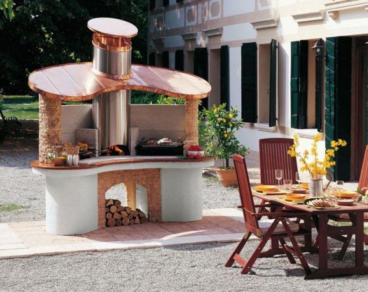 1000 id es sur le th me barbecue en pierre sur pinterest for Construire un foyer exterieur en pierre