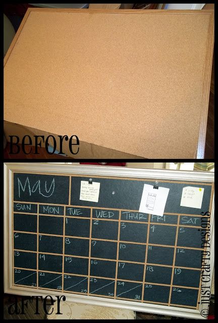 Corkboard to Chalkboard Calendar... thinking about doing this