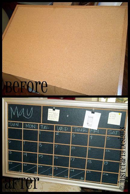 Corkboard to Chalkboard Calendar