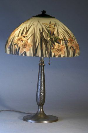 58 best lampshades images on pinterest tiffany lamps victorian this exquisite reverse painted handel lampshade isdecorated on the interior with pastel colored daffodils roses wildflowers and foliage mozeypictures Choice Image