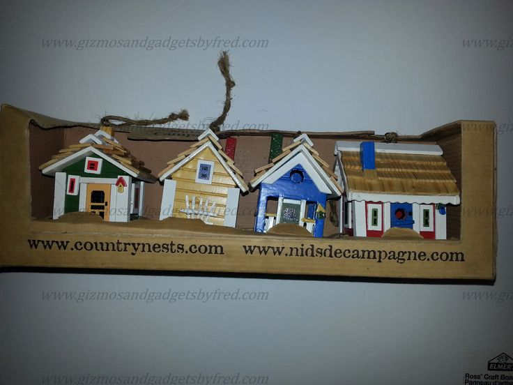 Great holidays decorations. Small little houses for your tree. More details at  www.gizmosandgadgetsbyfred.com