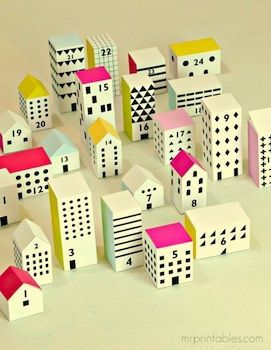 Calendario de Adviento -  chrismas - Advent Calendar - count down calendar - diy - manualidades - niños - navidad - imprimibles www.toridori.es