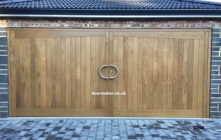 oak double garage doors