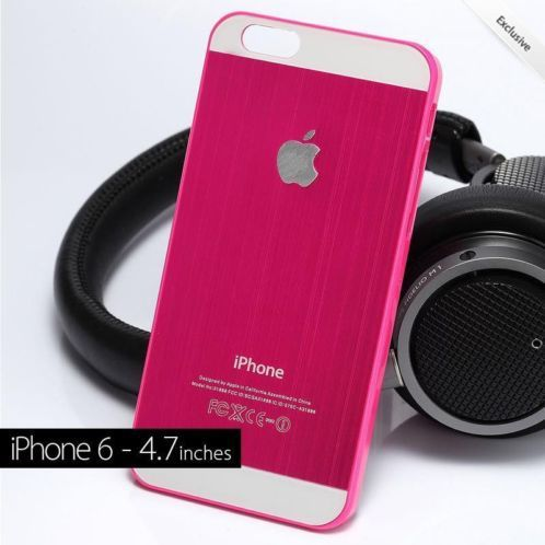 "≥ iPhone 6 4.7"" Hot Pink Aluminium Case - Limited Edition! OP= - Mobiele telefoons 