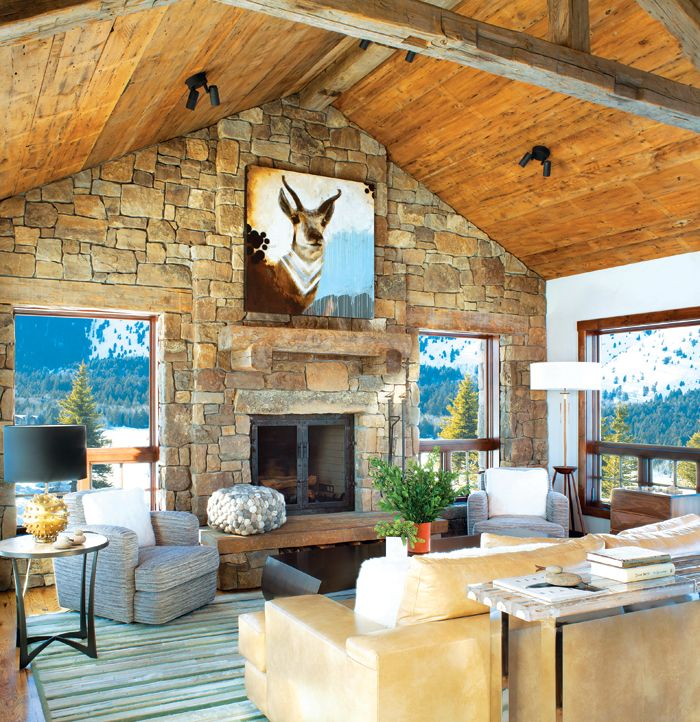 188 best images about living rooms on pinterest montana for Mountain living