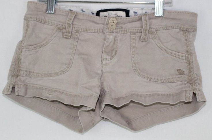 Abercrombie Girls Tan Khaki Shorts Size 12 #AbercrombieFitch