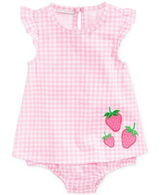 First Impressions Baby Girls' Strawberry Romper