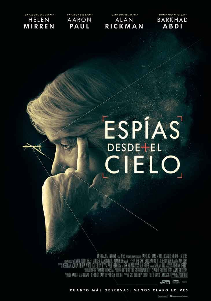 """Hoy hemos tenido tarde de cine en familia, en esta ocasión para ver la recién estrenada película británica """"Espías desde el cielo"""" (el título original es """"Eye in the sky""""), dirigida por el sudafric…"""