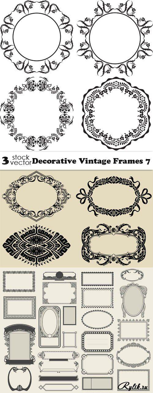 Декоративные рамки в векторе. Vectors - Decorative Vintage Frames 7
