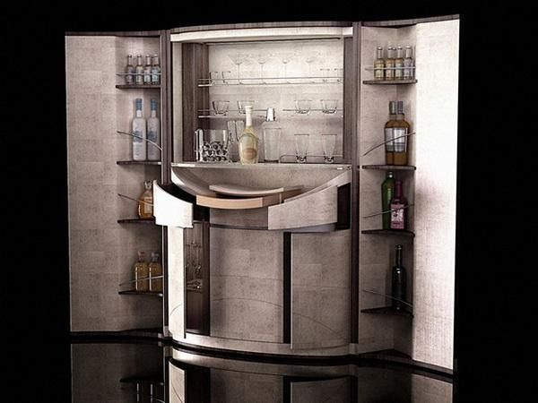 Elegant Home Bar Furniture, Design Idea Adds Striking Luxury Of Gold To  Modern Interiors | Bar Furniture, Shelves And Interiors