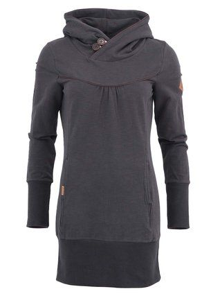 Ragwear - Tmavě šedá dámská mikina s klokaní kapsou  Manchester - 1