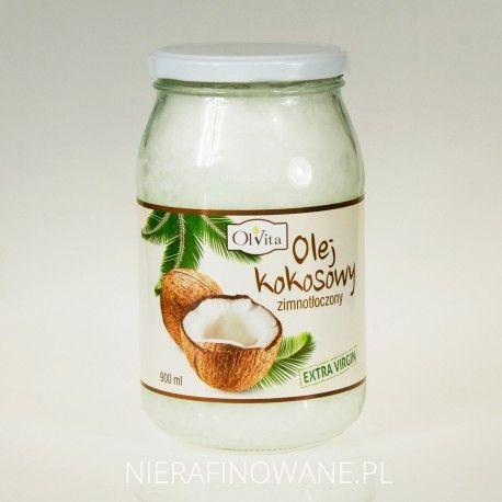 Olej kokosowy zimnotłoczony Extra-Virgin Ol'Vita - 0.2, 0.45 i 0.9 l