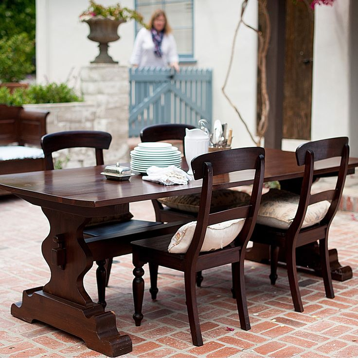 Bradshaw Kirchofer Tremaine Trestle Dining Table Laylagrayce
