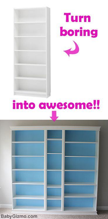 DIY Ikea Playroom Built in Billy Bookcase