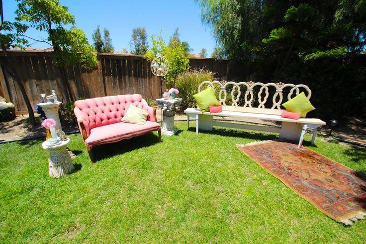 Lauren sharon vintage rentals for my bridal shower, secret garden, vintage themed