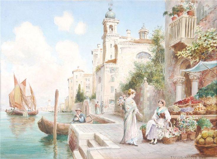Arthur Trevor Haddon Venetian Flower sellers