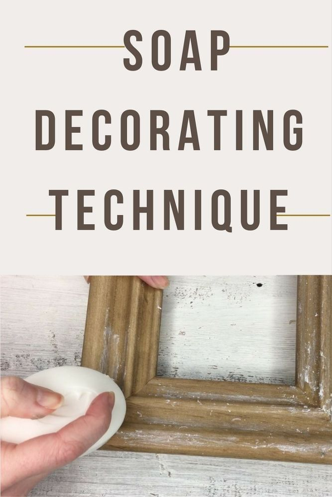 This looks so good! Distressing Technique Using Soap