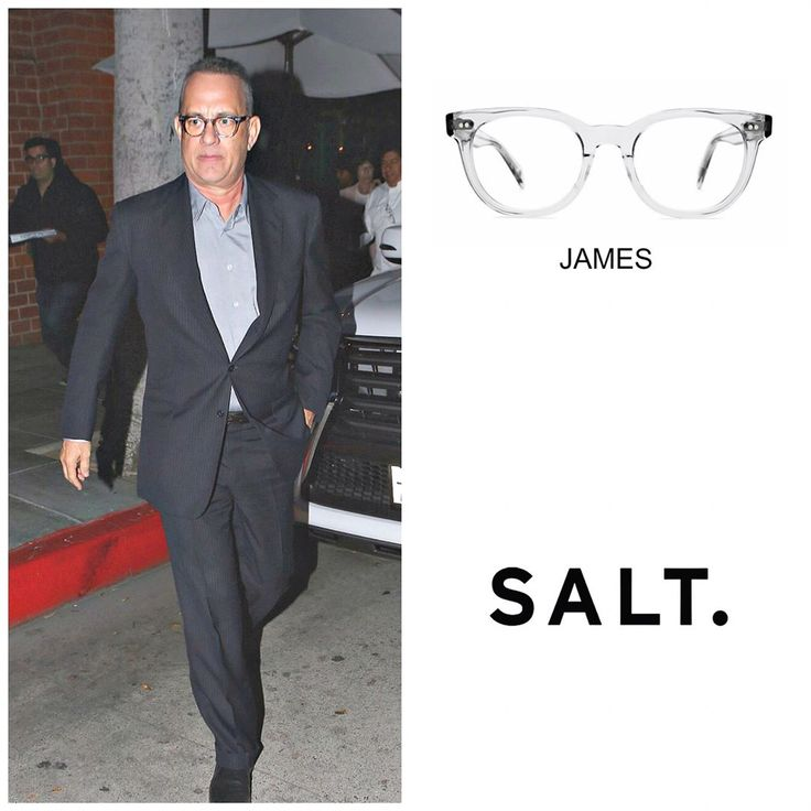 """62 Likes, 5 Comments - Custom Eyes (@customeyes2020) on Instagram: """"Americas Dad, Tom Hanks was recently spotted wearing not one, but TWO Salt. Frames; The JAMES and…"""""""
