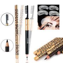 1 pcs Novo À Prova D' Água Marrom Leopardo Preto Guia de Maquiagem Cosméticos Lápis de Sobrancelha Modelo Sobrancelha Aliciamento Kit Stencil alishoppbrasil