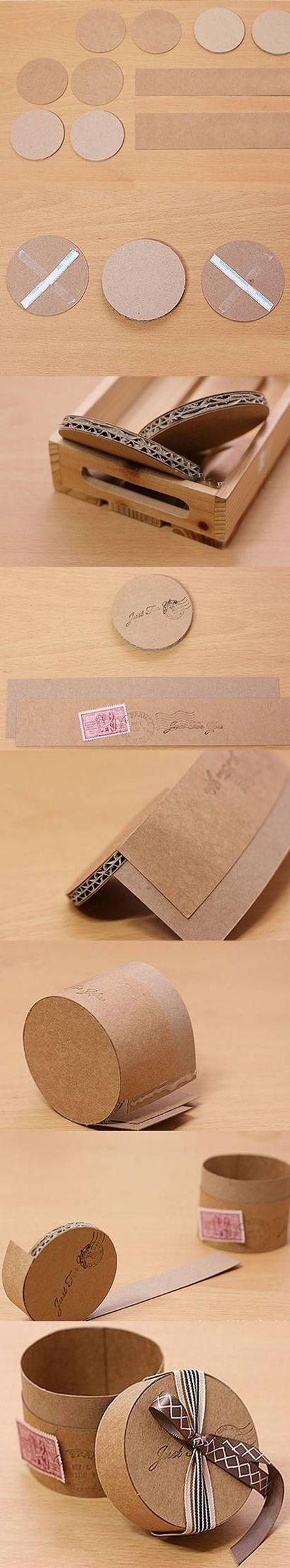 Caja de cartón DIY para regalo
