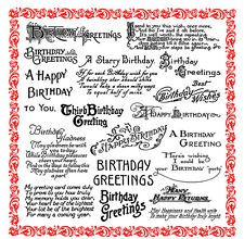 Happy Birthday Greetings Sayings Poems FLONZ 850 clear stamp acrylic clingy