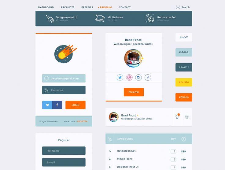 UI8 — Products — Designer-naut UI Kit
