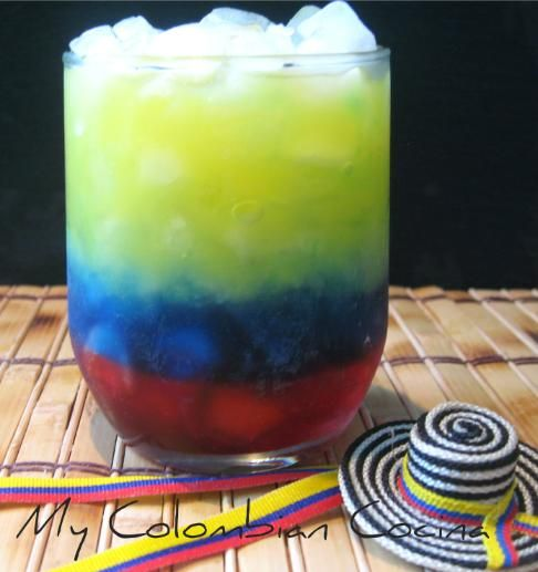 Cocktail Bandera Colombiana