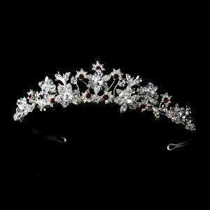 Silver Red Wedding Bridal Tiara Headpiece Melissa Kay Collection. $78.75. Rhinestone. silver plated. Lead Free Alloy. Save 33% Off!