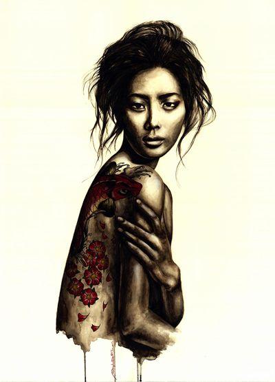 Trittico. Watercolor on Paper - 60x80 - 2013- Angela Di Folco