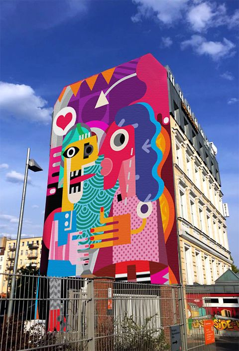 Design Mural Street Art for Xi-Design on Behance