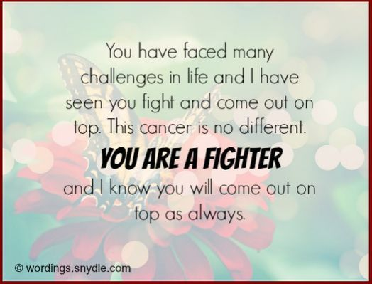 INSPIRING QUOTES FOR SOMEONE WITH cancer Pinterest