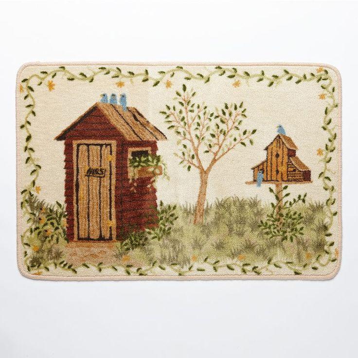 Country outhouse bathroom decor