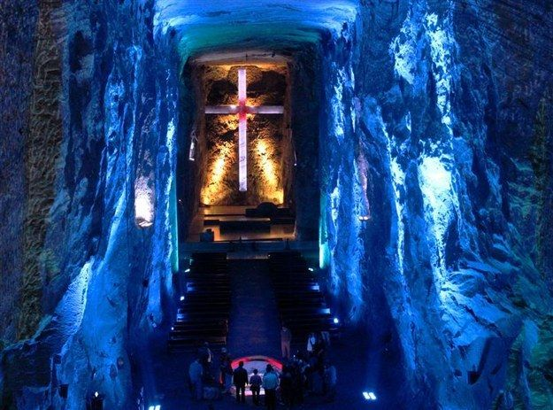 Cathedral in an abandoned salt mine in Zipaquira | A Trip Through The Land Of Magical Realism