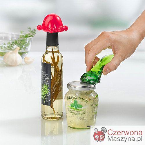 Otwieracz do butelek Koziol Arnold malinowy i otwieracz do słoików Koziol Tom - CzerwonaMaszyna.pl