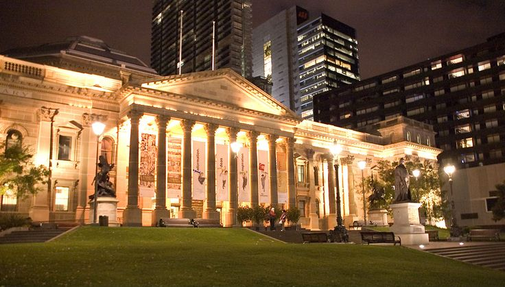 State Library of Victoria - Facade at Night