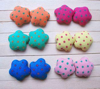500 pcs botão mista estrela tecido coberto botões decorativos botão patchwork acessórios DIY material de artesanato PE267a