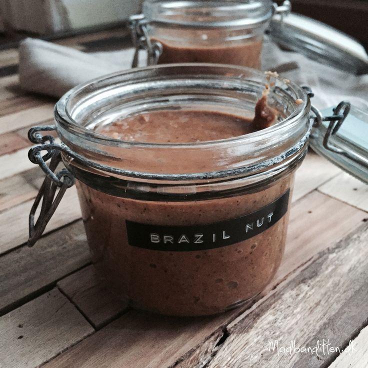 Hjemmelavet nøddesmør med paranødder (brazil nuts)
