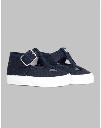 Armani Junior Navy Canvas Shoes