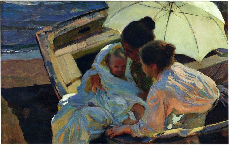 """joaquín sorolla y bastida - """"after the bath"""", 1902, oil on canvas."""