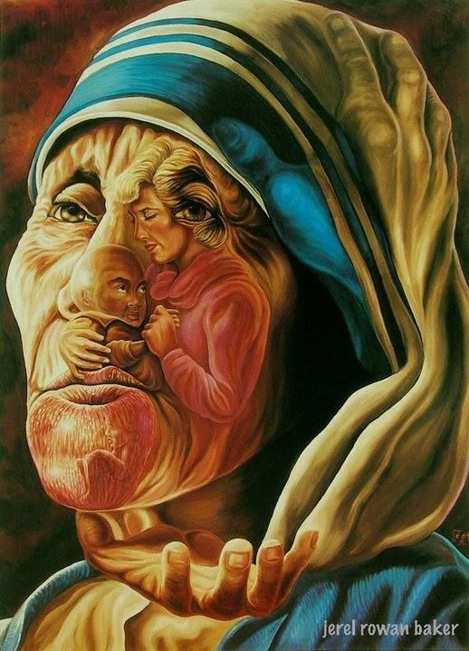 Most amazing painting!! Mother Theresa XX