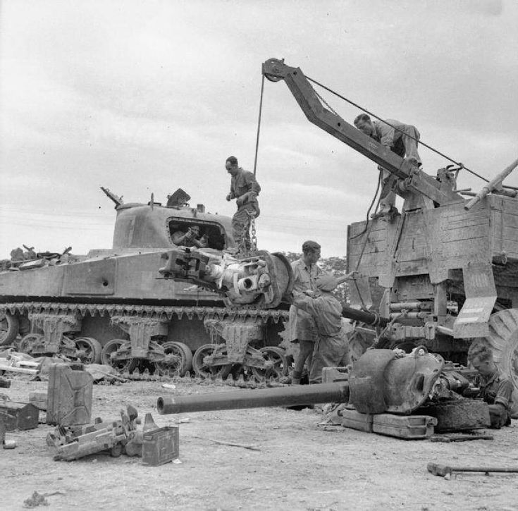 Image result for WW2 Vehicle Repair camp in italy