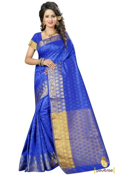 woven-work-silk-blue-color-saree-online-PRS-109631